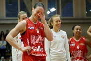 Christy Bacon gjorde sin sista basketmatch. (Foto: Morgan Jansson)