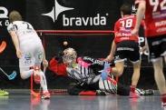 Joakim Olsson avgör matchen i sudden death 5-4. Foto: Peter Bohlin