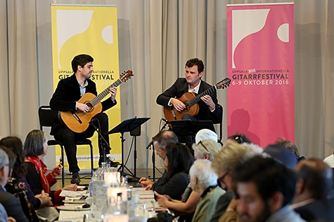 Grigoryan Brothers bjöd på lunchkonsert under Uppsala Internationella Gitarrfestival. (Foto: Morgan Jansson)